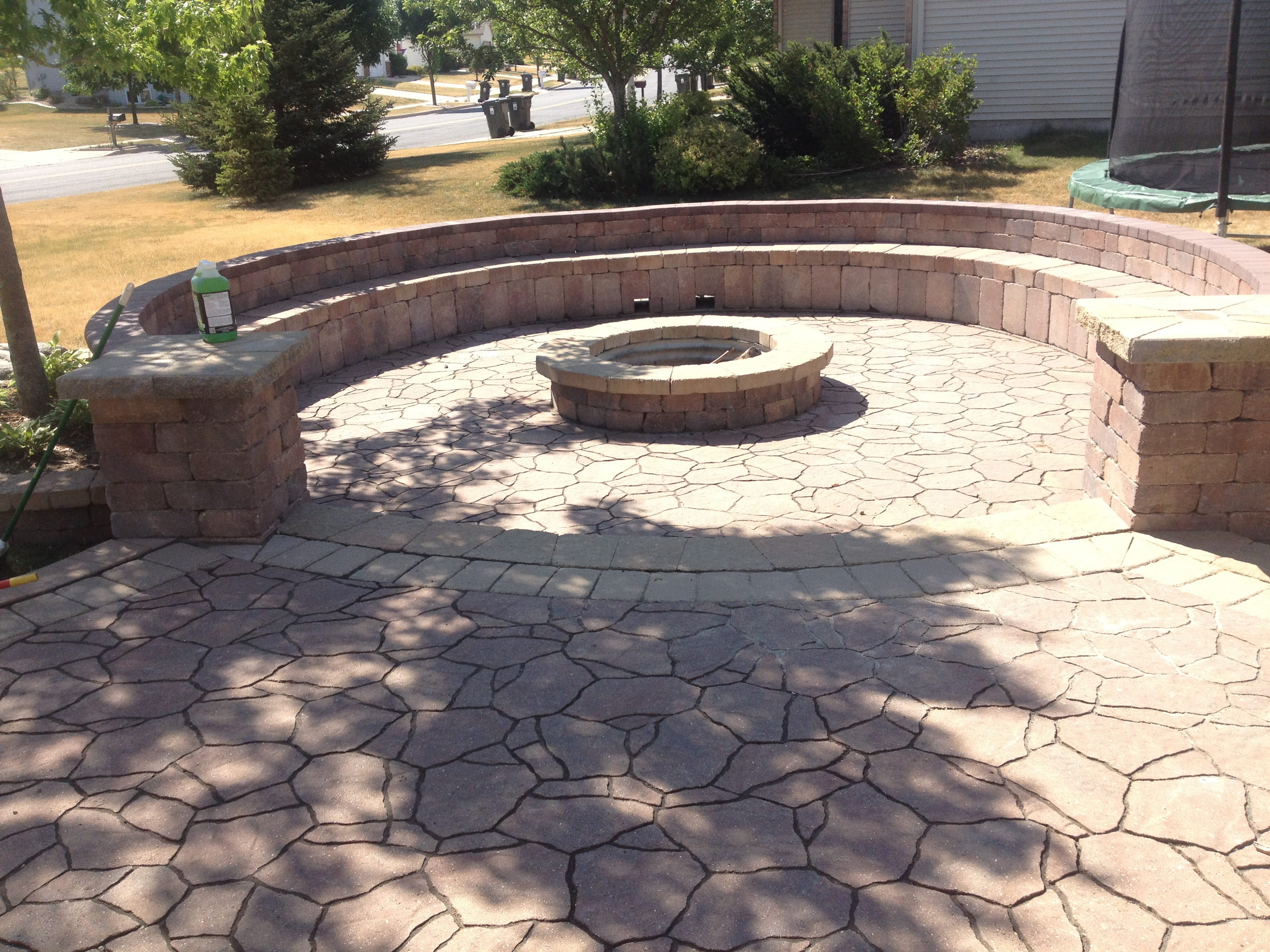 Patio Pavers | Patio Paver Ideas | Madison WI | Marvins ... on Pavers Patio With Fire Pit id=99816