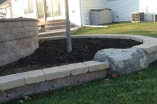 Patio with Edging and Steps