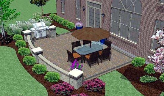 Marvelous Hardscape Design | Brick Pavers | Marvins Brick Pavers | Madison WI