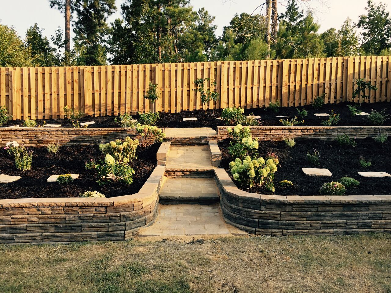 Design Of Retaining Walls Examples: Custom Paver Walls