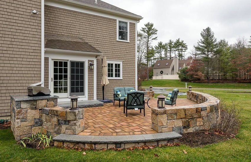 Create Versatile Outdoor Living Spaces with Stone Pavers ... on Backyard Brick Wall Ideas id=35901