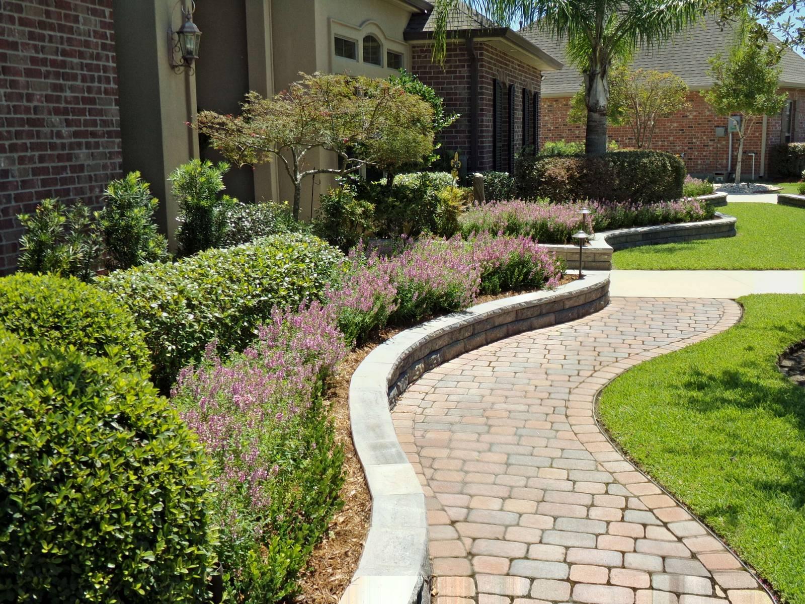 Paver Hardscape Landscape Planting Marvins Brick