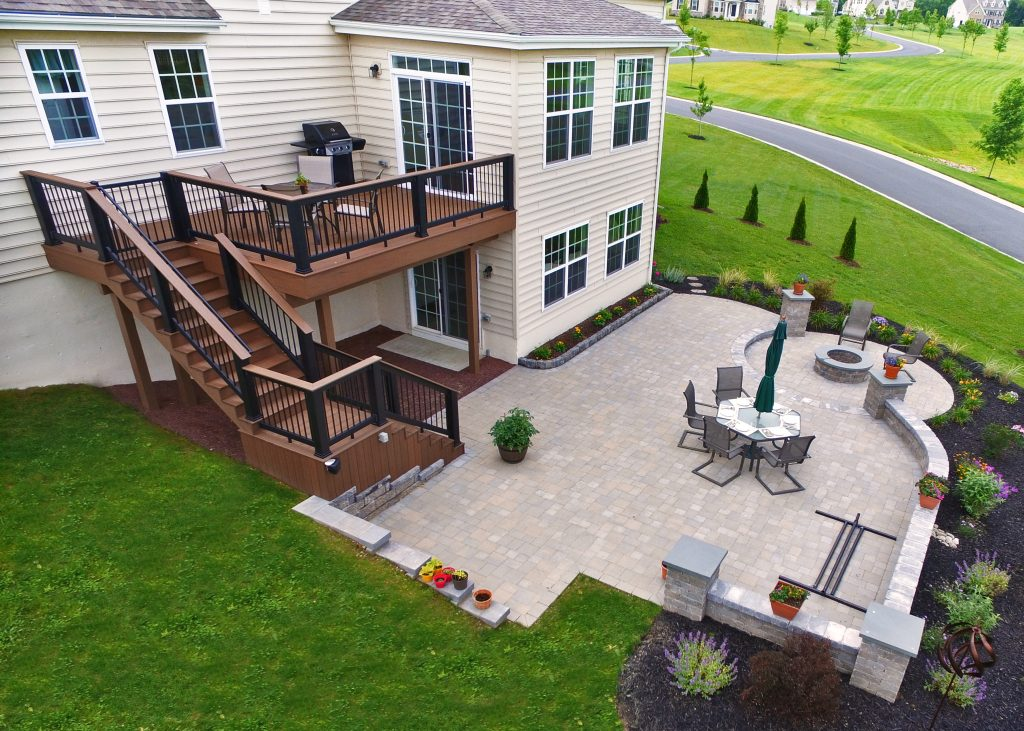 Combine Paver Patio And Deck For The